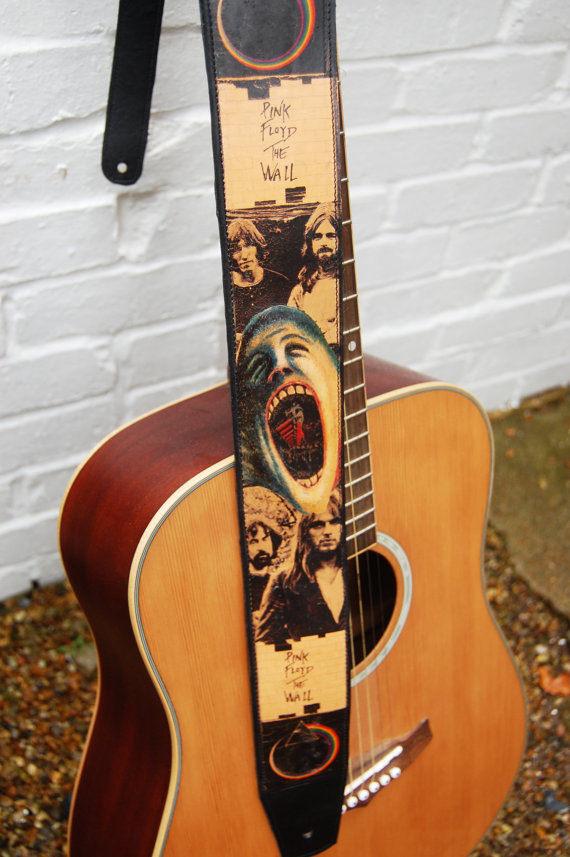 pink floyd guitar strap