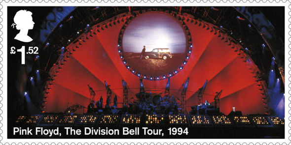 Some of the stamps will celebrate the band's live performances