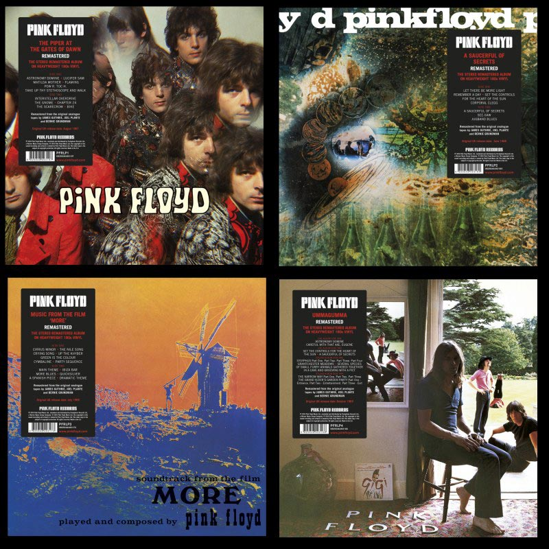 Pink Floyd Records – first four 180g albums released