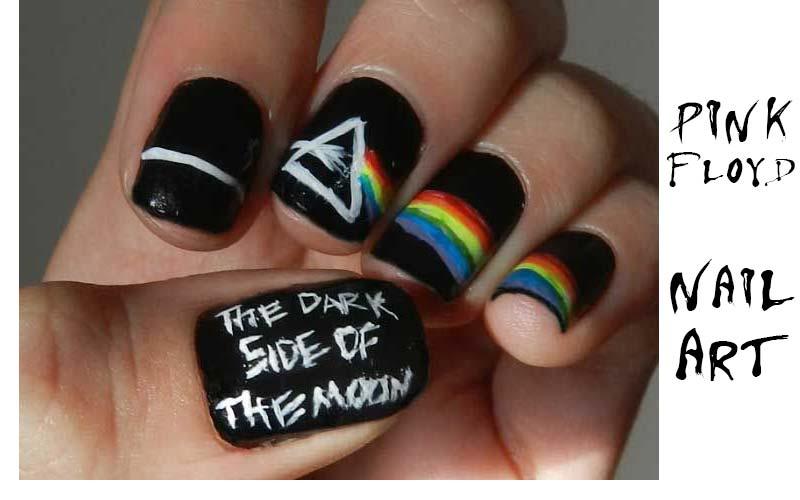 Cool Pink Floyd Inspired Nail Arts.