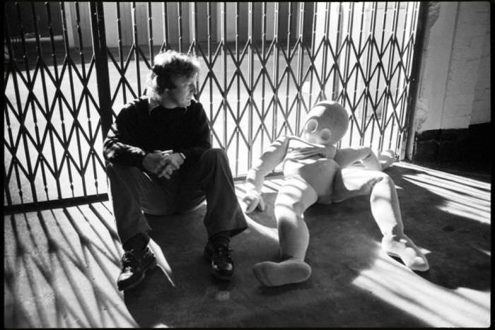 Alan Parker and a friend.