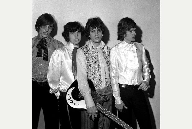 "A LIBRARY FILE PICTURE OF THE POP GROUP ""PINK FLOYD"" IN LONDON. FROM LEFT TO RIGHT: ROGER WATERS, NICK MASON, SYD BARRETT AND RICK WRIGHT"