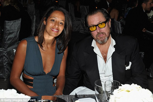 Famous ex: Rula is the author of three books and previously dated filmmaker and artist Julian Schnabel (above in 2011) before marrying Arthur
