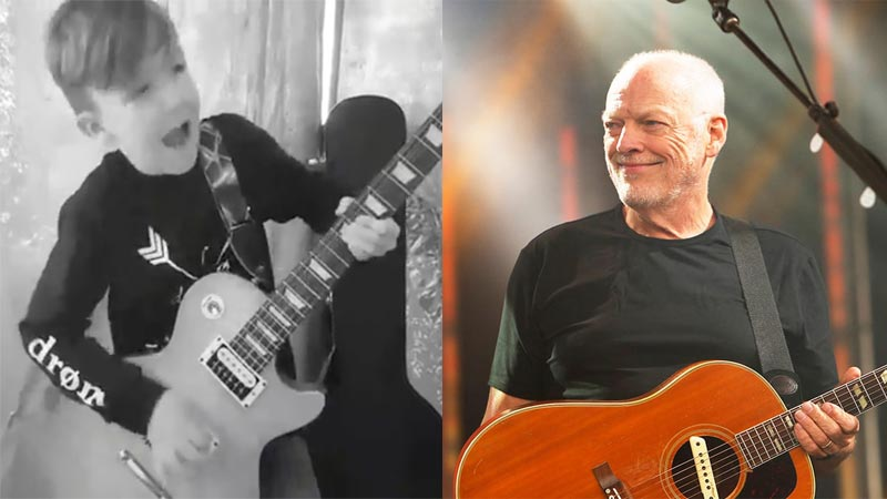 This Little Kid Playing David Gilmour's Guitar Solo Growing Up Is Too Adorable To Miss