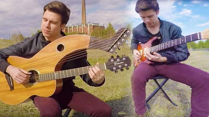"Watch: ""Breathes"" New Life Into This Pink Floyd Classic With Magnificent Harp Guitar Cover"